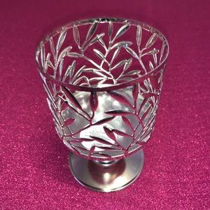 Bath and Body Works Silver Candle Holder
